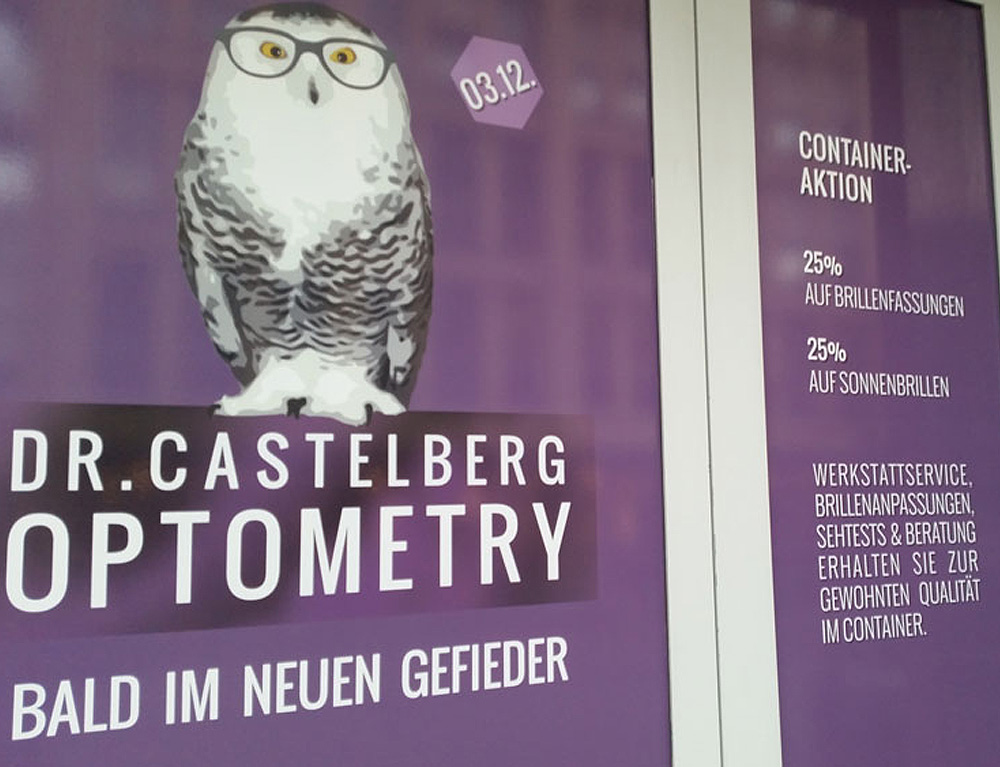 Dr. Castelberg Optometry baut um, beba it. web. grafik. Landquart
