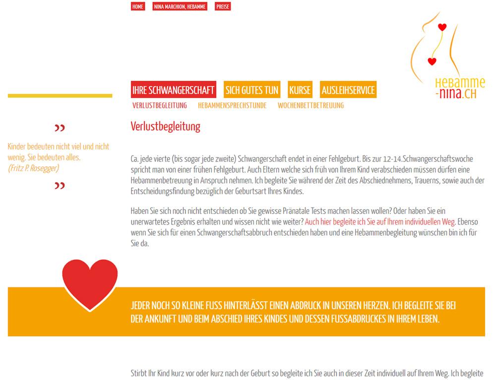 Hebamme Nina Marchion Beba It Web Grafik Landquart