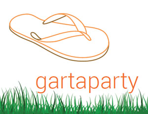 Gartaparty, beba it. web. grafik. Landquart
